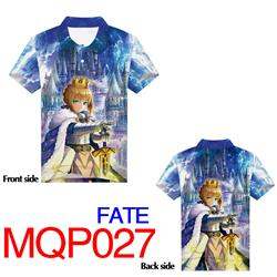 fate anime 3d printed polo tshirt 2xs to 4xl