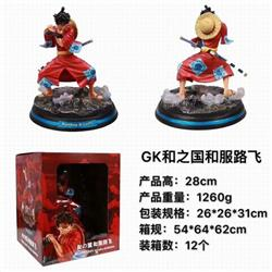 One Piece GK Monkey D. Luffy Boxed Figure Decoration Model 28CM 1260G a box of 12