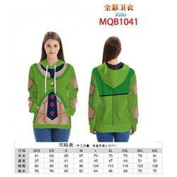 JoJos Bizarre Adventure Full color zipper hooded Patch pocket Coat Hoodie 9 sizes from XXS to 4XL MQB1041