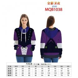 JoJos Bizarre Adventure Full color zipper hooded Patch pocket Coat Hoodie 9 sizes from XXS to 4XL MQB1038