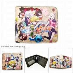 The Seven Deadly Sins Short color picture two fold wallet 11X9.5CM 60G-HK-574