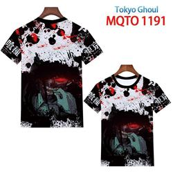 tokyo ghoul anime 3d printed tshirt 2xs to 4xl