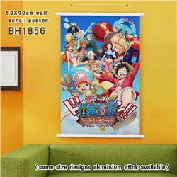 One Piece White Plastic rod Cloth painting Wall Scroll 60X90CM BH1856