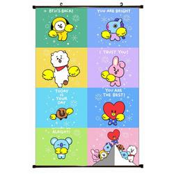 BTS Plastic pole cloth painting Wall Scroll 60X90CM preorder 3 days BS-766A