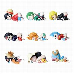 One Piece sleep-inducing insect Boxed Figure Decoration Model 6CM high and 10CM long 0.08KG a set of 9