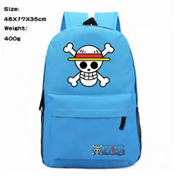 One Piece Luffy Anime 600D Canvas Backpack Waterproof School Bag 48X17X35CM 400G