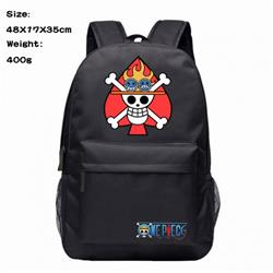 One Piece Ace Anime 600D Canvas Backpack Waterproof School Bag 48X17X35CM 400G
