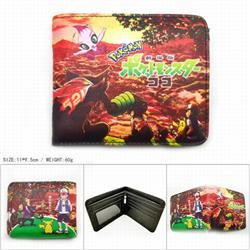 Pokemon Short color picture two fold wallet 11X9.5CM 60G-HK-606