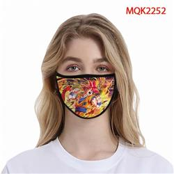 Dragon Ball Color printing Space cotton Masks price for 5 pcs MQK2252