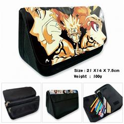 Naruto-2B Anime double layer multifunctional canvas pencil bag wallet 21X14X7.5CM 100G