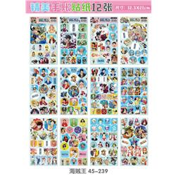 one piece anime sticker price for 12 pcs