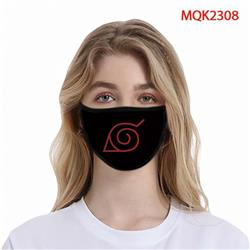Naruto Color printing Space cotton Masks price for 5 pcs MQK2308