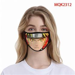 Naruto Color printing Space cotton Masks price for 5 pcs MQK2312