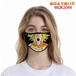 Dragon Ball Color printing Space cotton Masks price for 5 pcs MQK2049