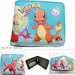 Pokemon Short color picture two fold wallet 11X9.5CM 60G HK-616