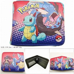 Pokemon Short color picture two fold wallet 11X9.5CM 60G HK-618