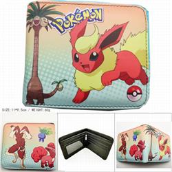 Pokemon Short color picture two fold wallet 11X9.5CM 60G HK-617