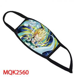DRAGON Ball Color printing Space cotton Masks price for 5 pcs MQK2560
