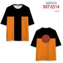 Naruto Loose short-sleeved T-shirt with black (white) edge 9 sizes from S to 6XL XKT6514