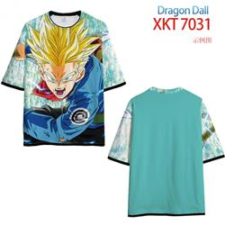 DRAGON Ball Loose short-sleeved T-shirt with black (white) edge 9 sizes from S to 6XL XKT7031