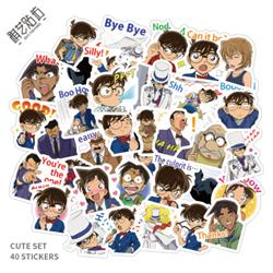 detective conan anime waterproof stickers set(50pcs a set) price for 5 set