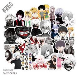 tokyo ghoul anime waterproof stickers set(50pcs a set) price for 5 set
