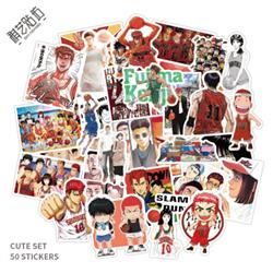 slam dunk anime waterproof stickers set(50pcs a set) price for 5 set