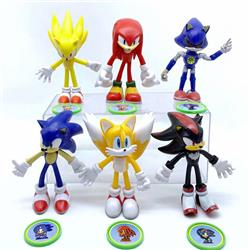 Sonic The Hedgehog game figures set(6pcs a set)