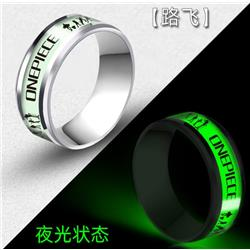 one piece anime moon ring