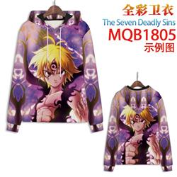 seven deadly sins anime 3d printed hoodie