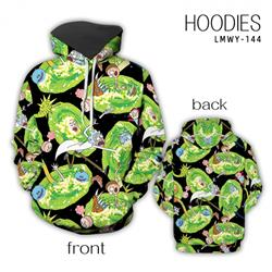 Rick and Morty Anime full color zipper hooded sweater M L XL 2XL LMWY145