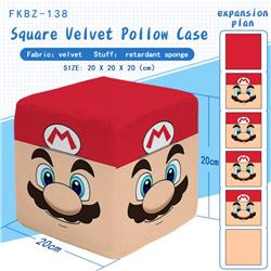Super Mario Bros Plush Square Pillow 20X20X20CM FKBZ138
