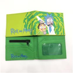 Rick and Morty Cartoon Pattern PU Coin Purse Anime Wallet