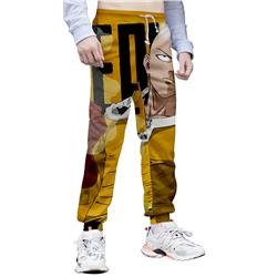 one punch anime 3d printed pants
