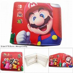 Super Mario Anime color picture two fold Short wallet 11X9.5CM 60G HK709