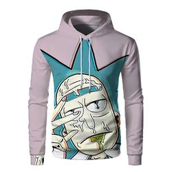 rick and morty anime 3d printed hoodie