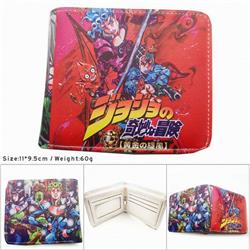 Jojo's Bizarre Adventure Colorful Printing Anime PU Leather Fold Short Wallet