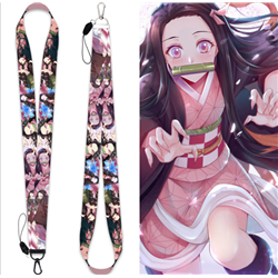 demon slayer anime lanyard phonestrap
