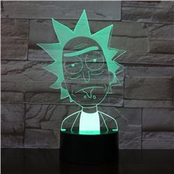 rick and morty anime 3d light