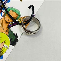 One Piece Japanese Multifunctional Alloy Anime Necklace Ring