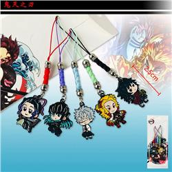 2 Ver. Demon Slayer: Kimetsu no Yaiba Cartoon Anime Pendant 5PCS/SET