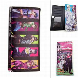 JoJo's Bizarre Adventure Long Three Fold Colorful Printing Anime PU Leather Fold Short Wallet