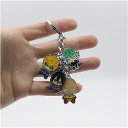 one punch man anime keychain