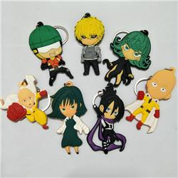 one punch man anime rubber keychain random selection
