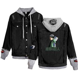 Attack on Titan anime jean jacket hoodie