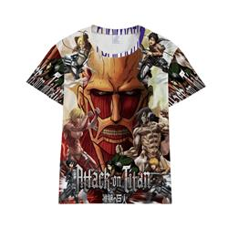 Attack on Titan anime 3D printed T-shirt